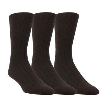 Florsheim 3-pack Flat Knit Mens Socks