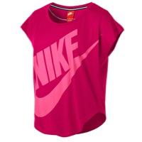 Womens Nike Signal Loose T-shirt - Fushia Force/hyper Pink