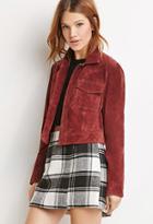 Love21 Women's  Genuine Suede Open-front Jacket