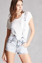 Forever21 Acid Wash Overall Shorts