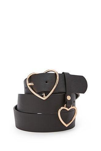 Forever21 Heart Buckle Belt