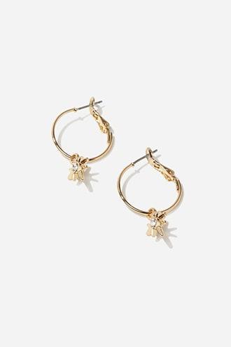 Forever21 Star Charm Hoop Earrings
