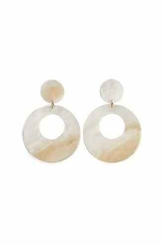 Forever21 Marble Cutout Drop Earrings