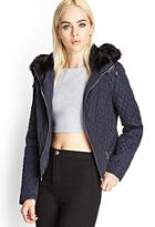 Forever21 Quilted Faux Fur Jacket