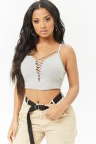 Forever21 Strappy Crisscross Cropped Cami