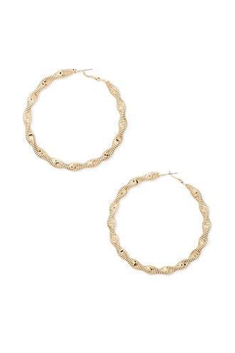 Forever21 Snake-chain Hoop Earrings