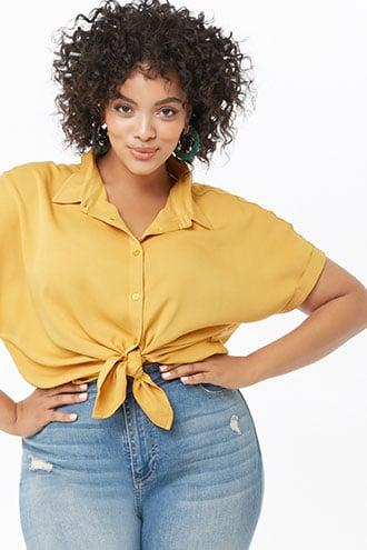 Forever21 Plus Size Button-front Shirt