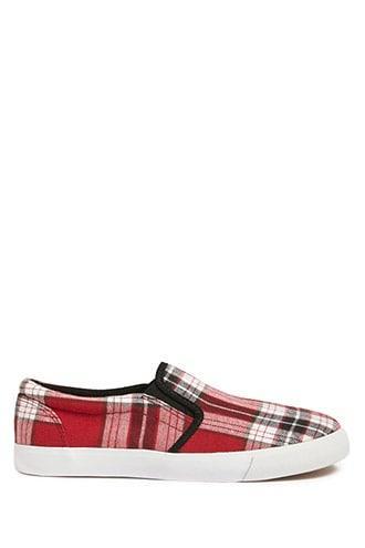 Forever21 Tartan Plaid Slip-on Sneakers