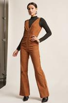 Forever21 Corduroy Zip-front Jumpsuit
