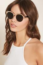 Forever21 Etched Round Sunglasses