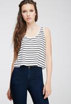 Forever21 Striped Cutout Top