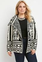 Forever21 Plus Geo-patterned Cardigan