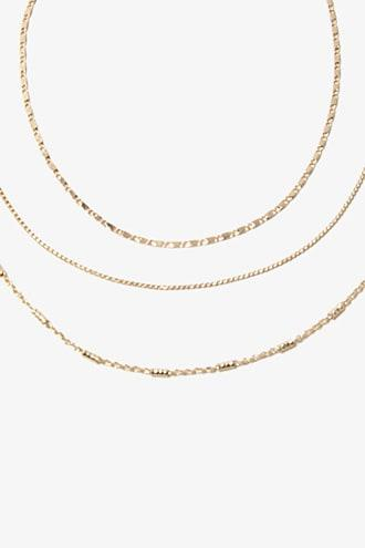 Forever21 Choker Chain Necklace Set