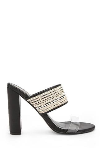 Forever21 Braided Clear-strap High Heels
