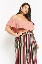 Forever21 Plus Size Flounce Crop Top