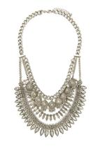Forever21 Etched Charms Statement Necklace