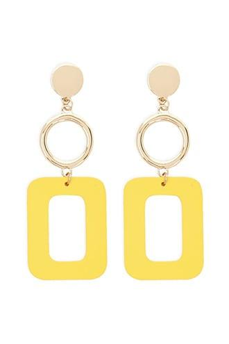 Forever21 Cutout Square Drop Earrings