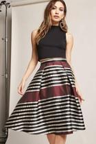 Forever21 Multistripe Metallic Skirt