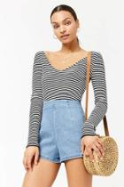 Forever21 Stripe Sweater-knit Crop Top