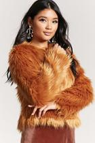 Forever21 Faux Fur Open-front Jacket