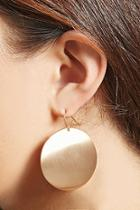 Forever21 Brushed Disc Drop Earrings