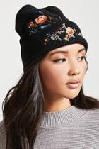 Forever21 Floral Embroidered Beanie