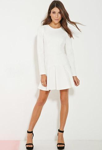 Forever21 Women's  Minty Meets Munt Shine Bright Dress (white)