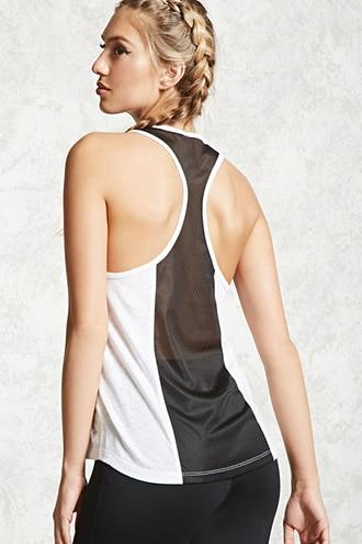 Forever21 Active Netted Back Tank Top