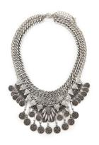Forever21 Coins Statement Necklace Set
