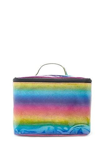 Forever21 Rainbow Glitter Makeup Bag