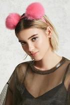 Forever21 Faux Fur Pom Pom Headband