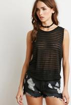 Forever21 Shadow Stripe Knit Top
