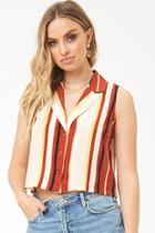Forever21 Striped Sleeveless Shirt