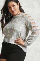 Forever21 Plus Size Bleached Sweatshirt