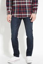 21 Men Men's  Dark Denim Slim Fit Jeans