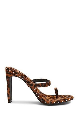 Forever21 Leopard Rhinestone-studded High Heels