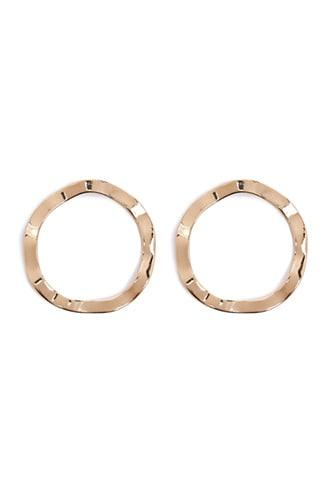 Forever21 Wavy Circle Drop Earrings