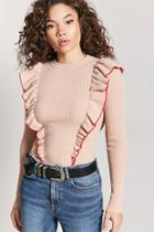 Forever21 Ribbed Ruffle Top