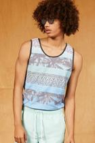 Forever21 Ocean Current Abstract Tank Top