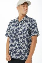 Forever21 Smash Striped Palm Tree Print Shirt