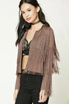 Forever21 Cropped Fringed Jacket