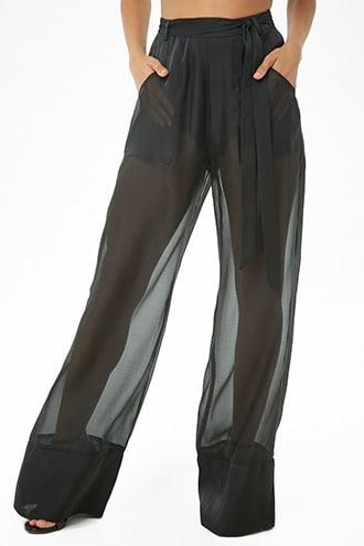 Forever21 Sheer Wide-leg Pants