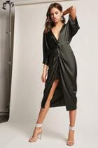 Forever21 Twist-front Plunging Dress