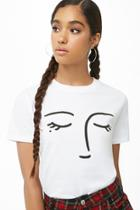 Forever21 Face Graphic Tee