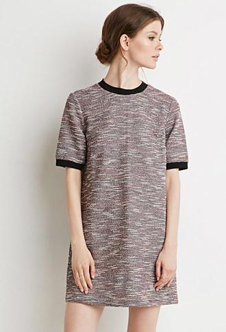 Love21 Boucle Ringer Shift Dress