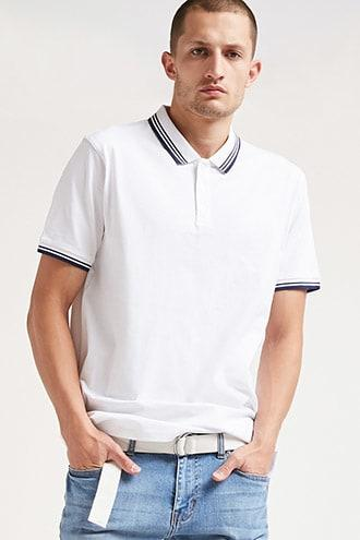 Forever21 Striped Polo Shirt