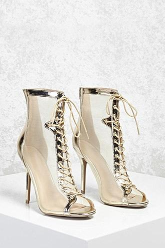Forever21 Metallic Mesh Stiletto Heels