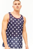 Forever21 Striped Star Print Tank Top