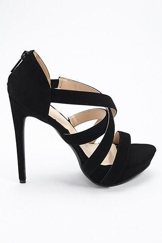 Forever21 Crisscross Faux Leather Platform Sandals