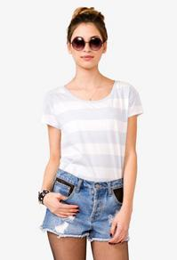 Forever21 Striped Boxy Tee